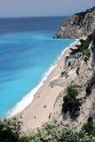 Playa de Egremni Fotos de archivo