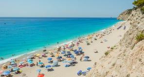 Playa de Egremni Fotografía de archivo libre de regalías