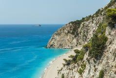 Playa de Egremni Imágenes de archivo libres de regalías