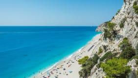 Playa de Egremni Imagen de archivo libre de regalías