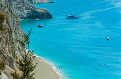 Playa de Egremni Fotografía de archivo