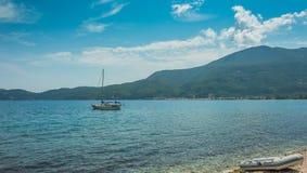 Playa de Egremni Imagenes de archivo