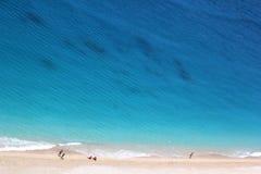 Playa de Egremni, isla de Lefkada Fotos de archivo libres de regalías