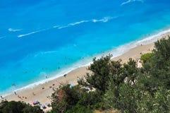 Playa de Egremnoi Imágenes de archivo libres de regalías
