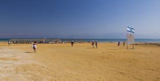 Playa de Ein Gedi Mar muerto, Israel Fotos de archivo libres de regalías