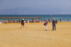 Playa de Ein Gedi Mar muerto, Israel Fotografía de archivo