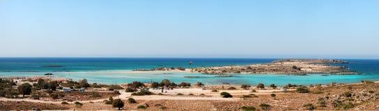 Playa de Elafonisi (Creta, Grecia) imagen de archivo libre de regalías