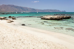 Playa de Elafonisi (Crete, Grecia) Fotos de archivo