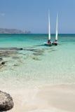 Playa de Elafonisi (Crete, Grecia) fotografía de archivo