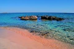 Playa de Elafonisi en Creta Grecia imágenes de archivo libres de regalías