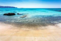 Playa de Elafonissi crete Grecia imagenes de archivo