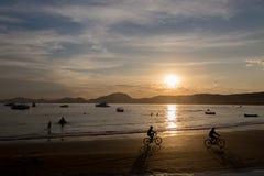 Playa de Enseada, Guaruja, el Brasil foto de archivo libre de regalías