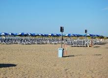 Playa de Eraclea en Italia Fotografía de archivo