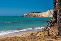 Playa de Eraclea Minoa Imagen de archivo libre de regalías