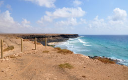 Playa de Esqinzo que sorprende en Canarias de Fuerteventura Foto de archivo libre de regalías