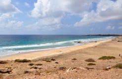 Playa de Esqinzo que sorprende en Canarias de Fuerteventura Fotografía de archivo
