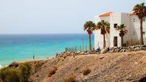 Playa de Esquinzo или курорт Butihondo, Фуэртевентура, Канарские острова, Испания стоковое изображение rf
