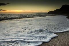 Playa de Eype Imagen de archivo libre de regalías