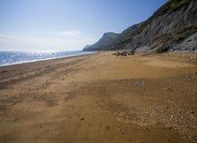 Playa de Eype en Dorset foto de archivo