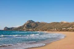 Playa de Falasarna Imágenes de archivo libres de regalías