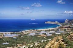 Playa de Falasarna en la isla de Creta Foto de archivo libre de regalías
