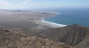 Playa de Famara Лансароте Стоковая Фотография