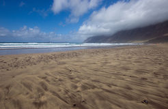 Playa de Famara Royaltyfria Bilder