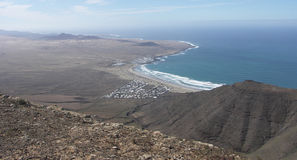 Playa de Famara Lanzarote Stockfotografie