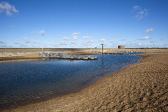 Playa de Felixstowe, Suffolk, Inglaterra Imagen de archivo