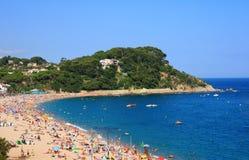 Playa de Fenals (costa Brava, España) Imágenes de archivo libres de regalías