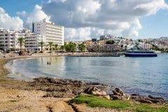Playa de Figueretas Imagen de archivo libre de regalías
