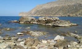 Playa de Fodele - febrero de 2017 Fotos de archivo libres de regalías