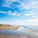Playa de Formby cerca de Liverpool en un día soleado Foto de archivo libre de regalías