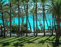 Playa de Formentor Cala Pi de la Posada , beautiful beach at Cap Formentor, Palma Mallorca, Spain stock image