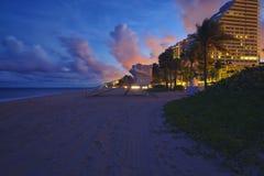 Playa de Fort Lauderdale Imagenes de archivo