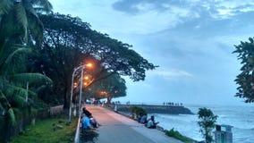 Playa de Fortkochi capturada en teléfono en la víspera Foto de archivo libre de regalías