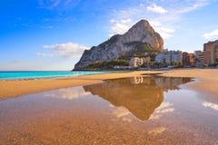 Playa De Fossa Beach In Calpe And Ifach Royalty Free Stock Photos