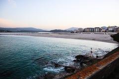 Playa de Foz стоковое изображение rf
