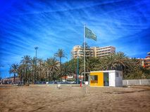 Playa de Fuengirola, España Imagen de archivo
