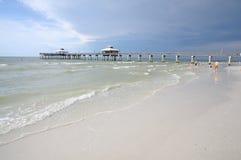 Playa de fuerte Myers, la Florida Imagenes de archivo