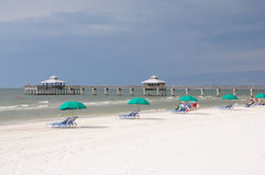 Playa de fuerte Myers, la Florida Fotografía de archivo