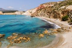 Playa de Fyriplaka Imagen de archivo