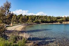 Playa de Galaxidi Fotografía de archivo