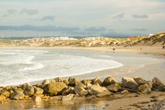 Playa de Gamboa, Baleal, Peniche, Portugal Imagen de archivo