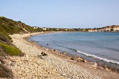 Playa de Gerakas - isla de Zakynthos Fotografía de archivo