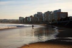 Playa de Gijón Fotografía de archivo libre de regalías