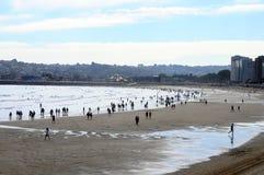 Playa de Gijón en España Imagenes de archivo