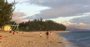 Playa de Gil del santo, La Reunion Island, Francia Fotos de archivo libres de regalías