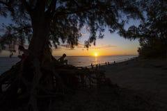 Playa de Gil del santo, La Reunion Island, Francia Imagenes de archivo