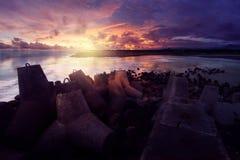 Playa de Glagah Foto de archivo libre de regalías